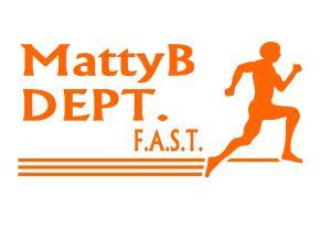 MattyB DEPT F.A.S.T. orange font