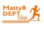 MattyB DEPT FIT4FUN orange font